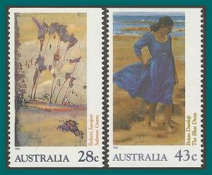 Australia 1990 Art Exhibition, perf 15.5 MNH #1191,1192,SG1269b,SG1270a