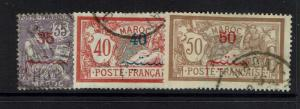 French Morocco - SC# 34 - 36 - Used - Lot 040917