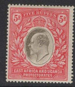 KENYA, UGANDA & TANGANYIKA SG30 1907 5r GREY & RED MTD MINT TONE SPOT