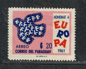 Paraguay Sc#628 M/LH/VF, Cv. $21