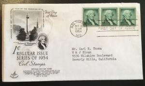 1031 Washington Coil, First Day Cover, Art Craft cachet, Vic's Stamp Stash