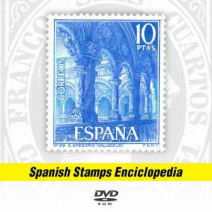 SPANISH STAMPS 1850-2013 ENCICLOPEDIA + CATALOGUE (Over 5200 illustrations)