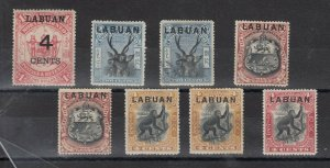 Labuan Early Collection of 8 SG75/113a MH J6759