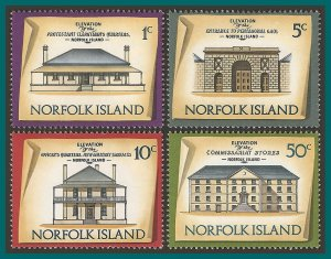 Norfolk Island 1973 Buildings I, MNH  #156-170,SG133-SG147