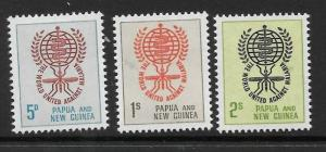 PAPUA NEW GUINEA SG33/5 1962 MALARIA ERADICATION MNH