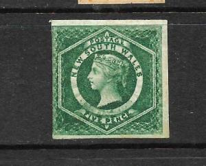 NEW SOUTH WALES 1854-59      5d   QV   FU    IMPERF   SG 88