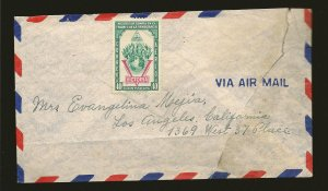 Nicaragua C261 on Airmail Cover to USA Used