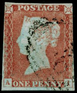 SG9, 1d pale red-brown PLATE 70, USED. Cat £40. AI