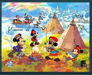 LESOTHO - 1988- DISNEY - MICKEY - DONALD - MINNIE + FINLANDIA - MINT NH S/SHEET!