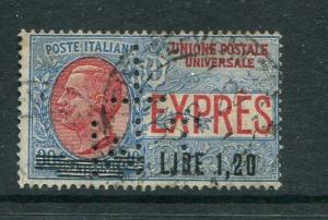 Italy #E10 Used MIT Perfin
