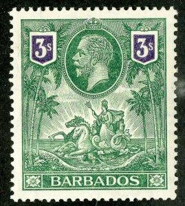 Barbados Stamps # 126 MNH Superb 3 Shilling Scott Value $200.00