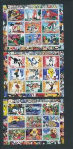 Tajikistan Commemorative Souvenir Stamp Sheet - Looney Tunes Merry Christmas