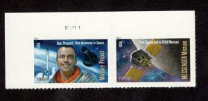 4527-28 Mercury & Messenger US Pair W/Plate Number MNH FREE SHIPPING