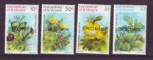J24523 JLstamps 1982 st vincent specimen set mnh #239-42 cactus
