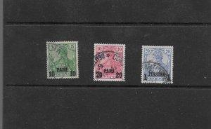 GERMAN PO IN TURKEY 1902/04 TYPE 11 O/PRINT USED