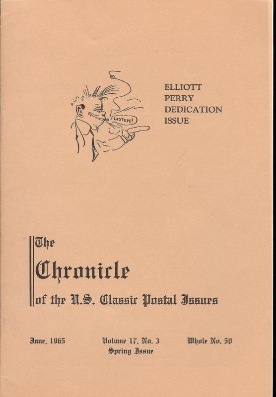 The Chronicle of the U.S. Classic Issues, Chronicle No. 50