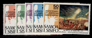SAMOA QEII SG459-463, 1976 American revolution set, NH MINT.