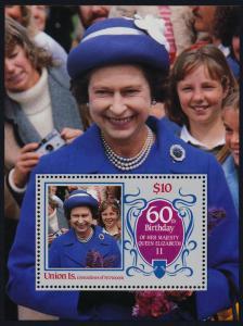 St Vincent Grenadines Union Island 217 MNH Queen Elizabeth 60th Birthday