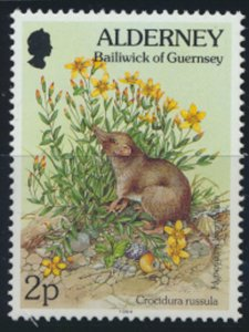 GB Alderney  SG A61 MNH  2p  White toothed Shrew 1994 SC# 71 See scan
