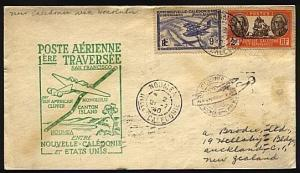 NEW CALEDONIA 1940 first flight cover to San Francisco.......18577