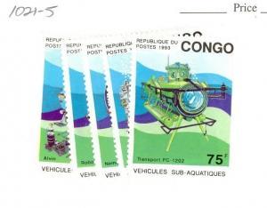 Congo-PR Scott 1021-1025 NH    [ID#430994]