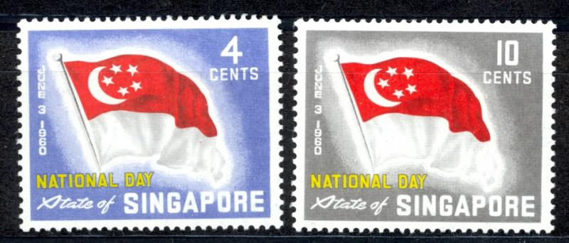 Singapore Sc# 49-50 MH 1960 State Flag