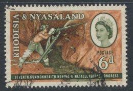 Rhodesia & Nyasaland  SG 38 SC# 178  Used Mining  see scan & detail