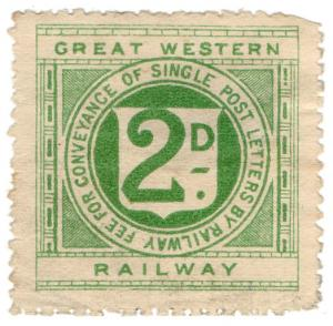 (I.B) Great Western Railway : Letter Stamp 2d
