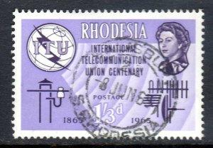 RHODESIA     ..1965   I.T.U  issue     sg352     fine used