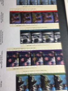 Canada #1615-1616 Cpl. Mint VF-NH 1996 Movies Set of 2 Souv. Sheets. USC Cat $10
