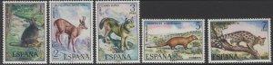 SPAIN SG2160/4 1972 SPANISH FAUNA MNH