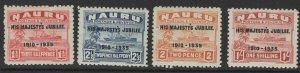 NAURU SG40/3 1935 SILVER JUBILEE MTD MINT