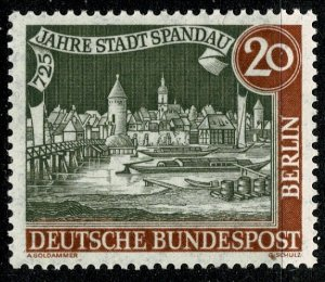 GERMANY BERLIN 1957 725th ANNIV of SPANDAU MINT(NH) SG B155 Wmk.294 P.14 SUPERB