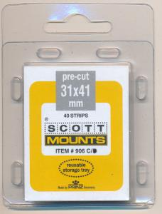 Prinz Scott Stamp Mounts Size 31 X 41 CLEAR Pack of 40