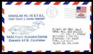 1976 DOUGLAS YC-15 S.T.O.L. FLIGHT 67 (#2) 136-2 TEST FLIGHT - US#1625(ESP#3819)