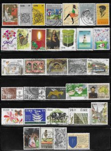 12336  Ireland 33 diff. stamps - good starter collection