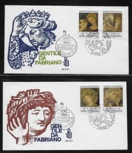 San Marino 828-31 Christmas Paintings Unaddressed FDC