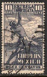 MEXICO E5, 10¢ Archer. Special Delivery, USED. F-VF. (1465)