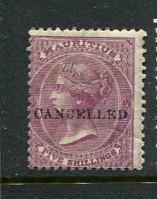 Mauritius #41 Overprinted CANCELED