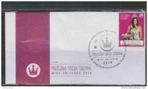 RO)2015 COLOMBIA, MISS UNIVERSE 2014 PAULINA VEGA DIEPPA - COLOMBIA, FDC XF