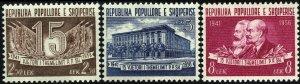 Albania #509-11  MNH - Labor Party (1957)