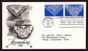 U.S. #2351-52 Lacemaking FDC