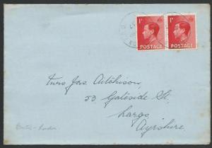 GB 1937 cover BRISTOL - LONDON TPO railway cancel..........................53360