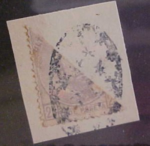 CUBA STAMP BISECT #55C cat.$150.00 on COVER THIS IS A PIECE