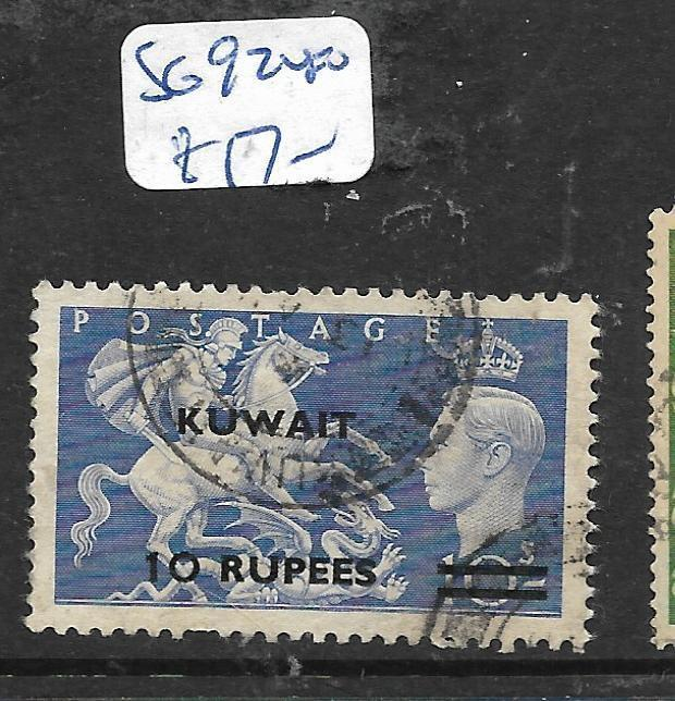 KUWAIT (P0203B) ON  GB KGVI 10R/10/- SG 92  VFU