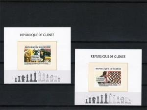 Guinea 2007 CHESS & PAINTINGS 3 Deluxe s/s Mint (NH)