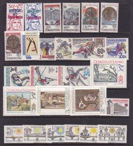 Czechoslovakia a nice MNH lot of sets etc modernish