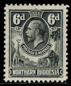 NORTHERN RHODESIA GV SG7, 6d slate-grey, M MINT.