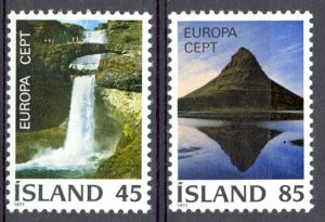 Iceland Sc# 498-499 MNH 1977 Europa