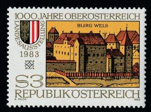 Austria 1238 MNH Wels Castle Art, Upper Austria Millennium Provincial Exhibition